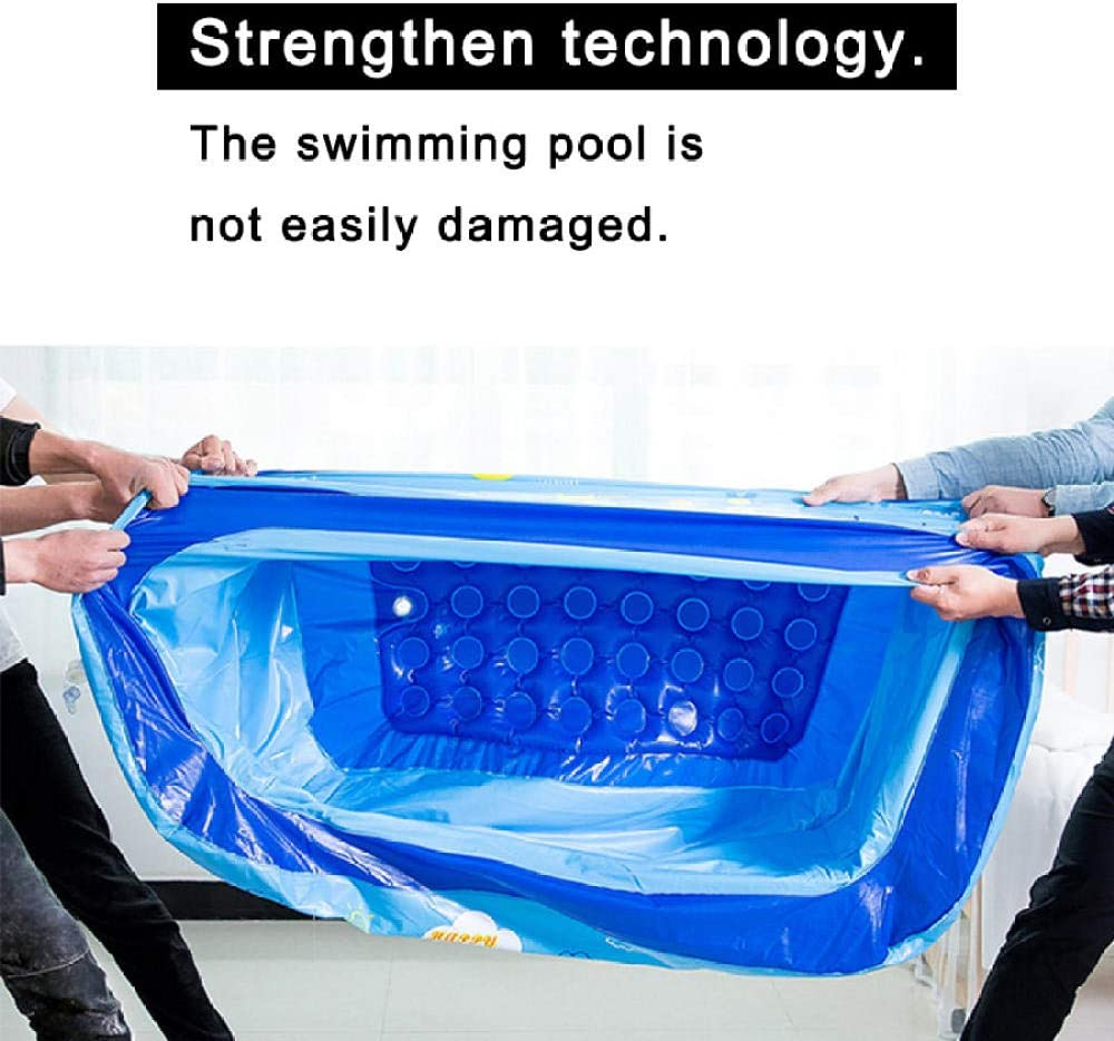 QIANWEIXI Aufblasbarer Pool,Rechteckiger Aufblasbarer Kinderpool AusAufblasbaremKunststoff PVCAufblasbare Badewanne 150x100x55cm