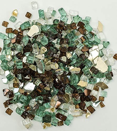 Cookingstar Fire Pit Fireplace Glass, High Luster 10-Pound x 1/2-Inch Fire Glass (Irish Roast Regular) (Irish Logs Fire)