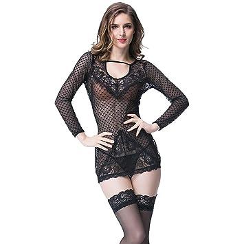 AFYH Sexy Onesies, Pijamas De Encaje De Ropa Interior De Mujer Pijama Desgaste Interior,