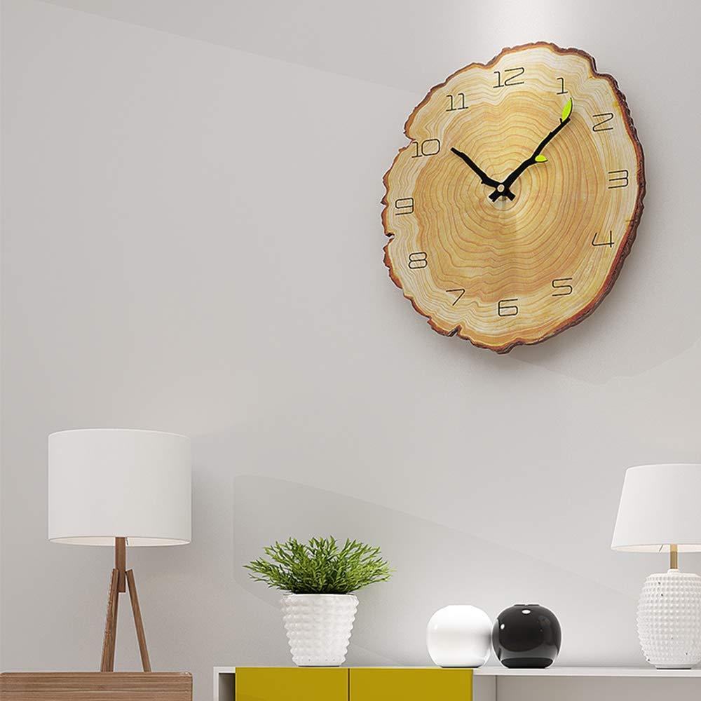 Pendule Cuisine Murale Retro Horloge Vintage pour la Maison Salon Kuisine 28x30cm HyFanStr Silencieuse Horloge Murale Vintage Pendule Murale Bois