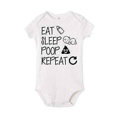 Daniel Galsworthy Eat Sleep Poop Repeat Baby Bodysuit Newborn Infant Girls Boy Funny Cotton Bodysuits 6M