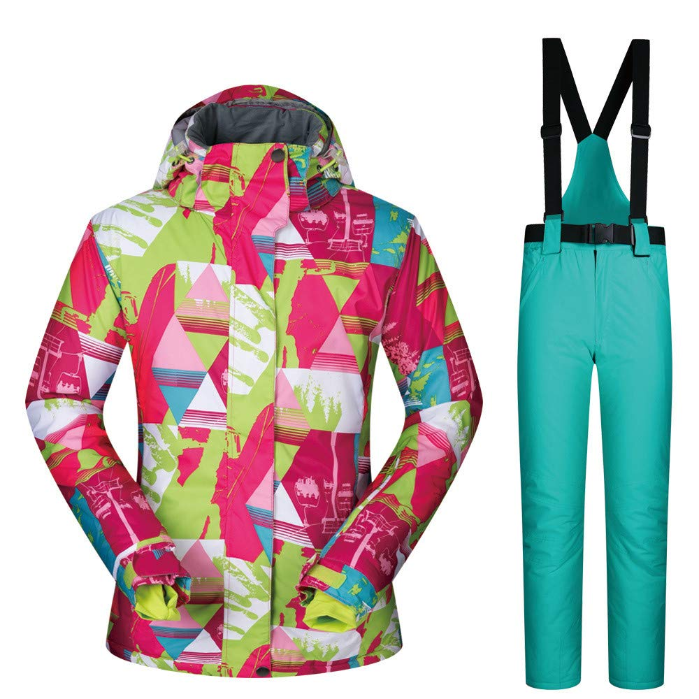 Zgsjbmh Giacca da Snowboard Tuta da Sci Sci Sci Inverno Caldo Outdoor impiallacciatura impiallacciatura Doppio Vestito da Sci Tuta da Donna Tuta da Sci (Coloreee   Light blu Pants (arancia), Dimensione   XL)B07L4MC4PTXL Light verde pants | Conosciuto per la sua b 230e70