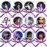 PRINCE artist singer 80's 90's pop music Party Favors Supplies Decorations Lollipops with Purple Ribbon Bows Party Favors -12 pcs, Video Game Truck Party