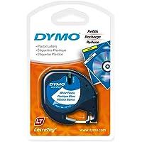 DYMO LetraTag Labeler Plastic Tape 12mm x 4M White