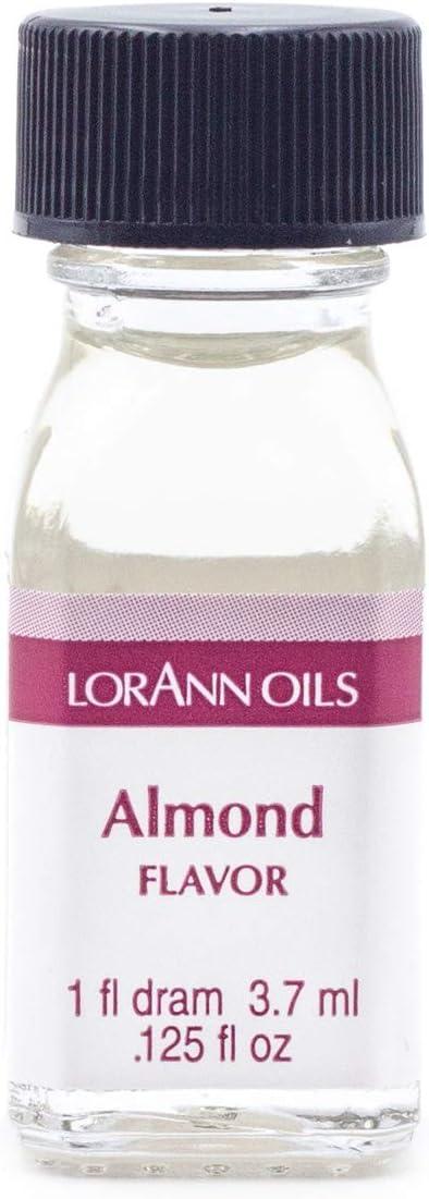 LorAnn Almond Super Strength Flavor, 1 dram bottle (.0125 fl oz - 3.7ml)