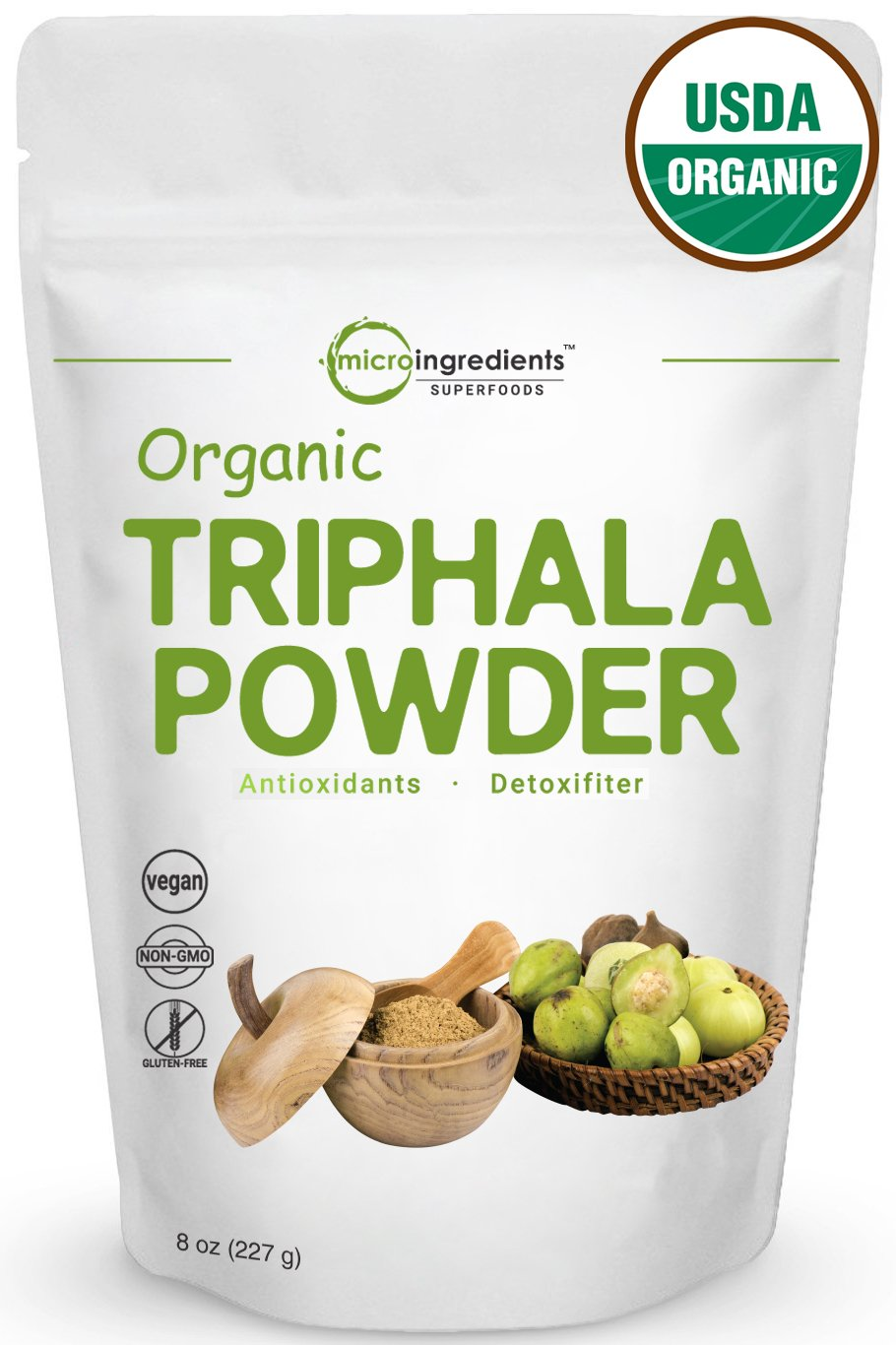 USDA Organic Triphala Powder, 8 Ounce, Strongly Supports Diet Control and Fat Burn, Non-GMO and Vegan Friendly