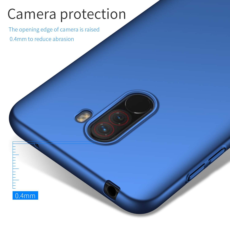 Avalri Compatible for Xiaomi Pocophone F1 Case, Ultra Thin Anti-Fingerprint and Minimalist Hard PC Cover for Xiaomi Pocophone F1 (Silky Blue)