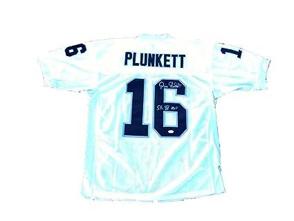 Jim Plunkett Signed Oakland Raiders quot  Sb XV Mvp quot  White Jersey - JSA  Certified - 0ec131178