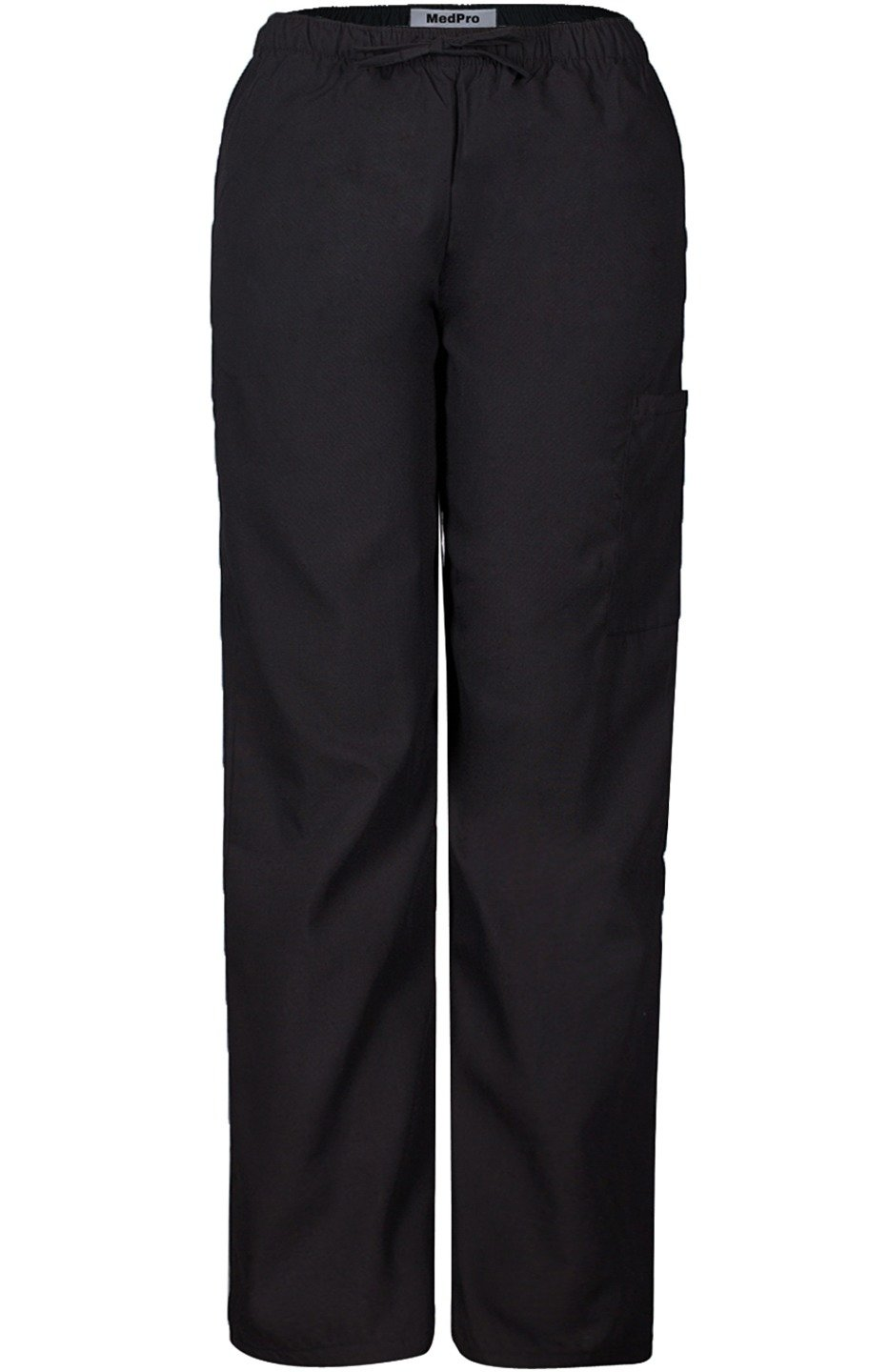 MedPro Women's Medical Scrub Set with V Neck Top and Cargo Pants Black Red XS by MedPro (Image #4)