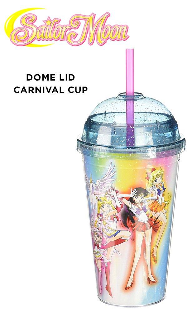 JUST FUNKY Sailor Moon OFFICIAL Planetary Defenders + Sailor Chibi PREMIUM Tumbler Travel Cup,16oz(BPA-Free)