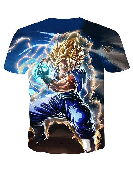 Unisex Camiseta Dragon Ball Niño 3D Impresión Hombres Mujer Camisetas y Camisas Deportivas Camisetas de Manga Corta Dibujos Animados de Fans Streetwear T Shirt Camisetas de Verano (TXU-112, M): Amazon.es: Ropa y