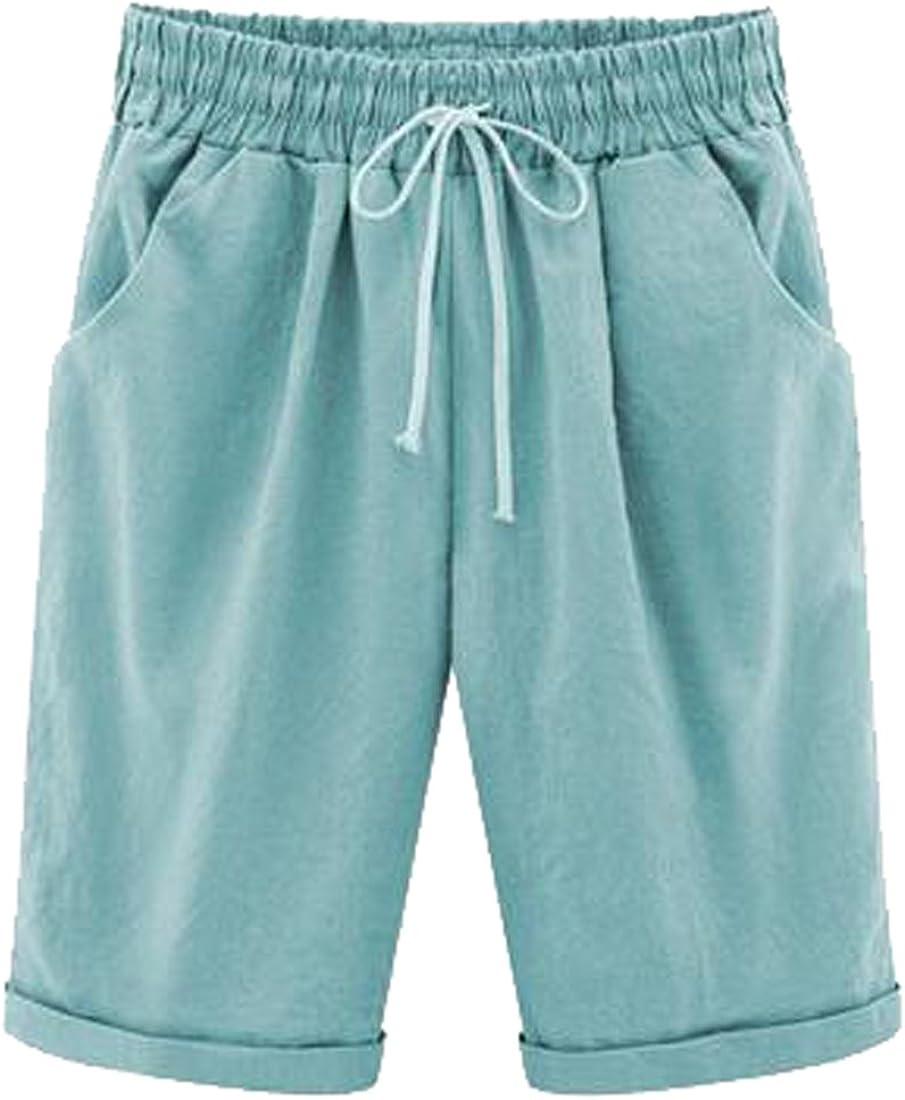OTW Women Fringed A-Line Summer High Waisted Denim Shorts Jeans