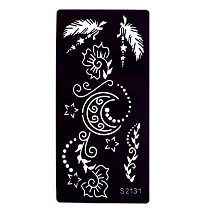 Just Fox - Plantilla de aerógrafo para tatuaje de henna, diseño de ...
