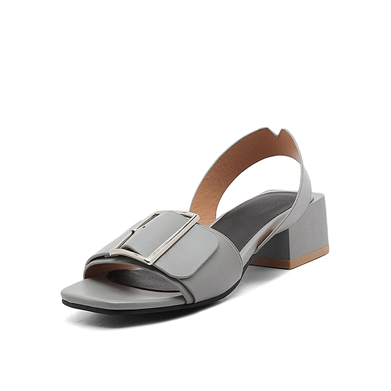 Chopstick Buckle Square Heels Date Casual Summer Sandals Shoes Women Big Size 34-43