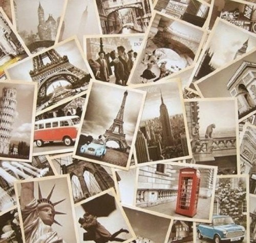 Dxhycc 32 PCS 1 Set Vintage Retro Old Travel Postcards for Worth - Retro Vintage