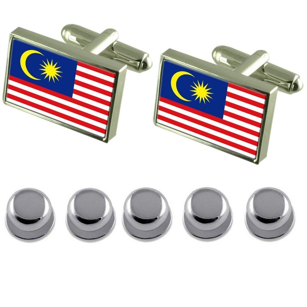 Select Gifts Shirt Dress Studs Malaysia Flag Cufflinks