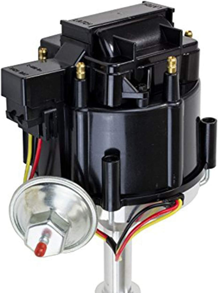 A-Team Performance Complete HEI Distributor 65K Coil 7500 RPM Compatible With Chevrolet Chevy GM GMC Truck Late Model Inline 6 Cylinder 230 250 292 One Wire Installation Blue Cap