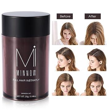 Fibras Capilares Fibras de pelo corrector engrosamiento del pelo fibras de construcción en polvo para hombres y mujeres (Marrón oscuro)