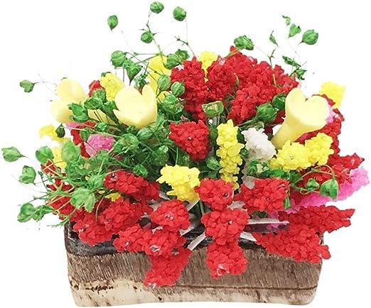 SUPVOX casa de muñecas Flor Miniatura Mini Escena de jardín Accesorios de decoración de casa de muñecas Kit de jardín de Hadas para niños: Amazon.es: Jardín