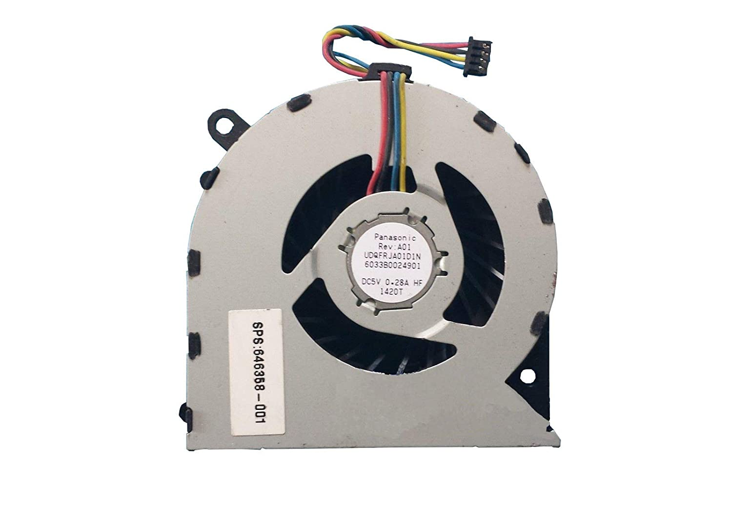 Z-one Fan Replacement for HP Probook 4330s 4331s 4430s 4431s 4435s 4436s Series CPU Cooling Fan 646358-001 4-Wires 4-Pins