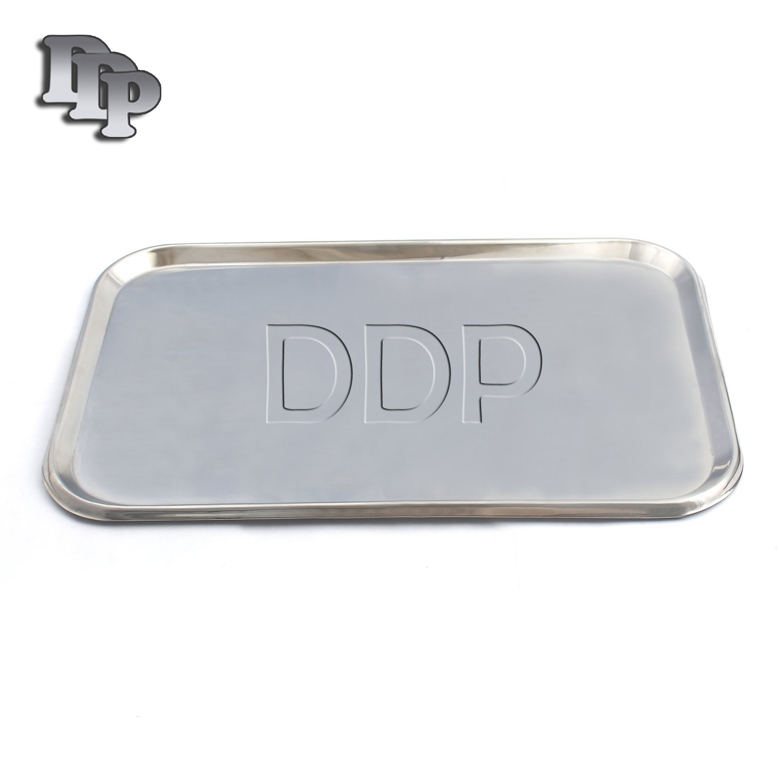 DDP FLAT TYPE INSTRUMENT TRAY, STAINLESS STEEL, 19'' X 12-1/2'' X 5/8''