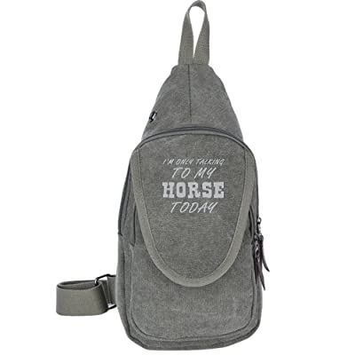 high-quality I'm Only Talking To My Horse Today Fashion Men's Bosom Bag Cross Body New Style Men Canvas Chest Bags