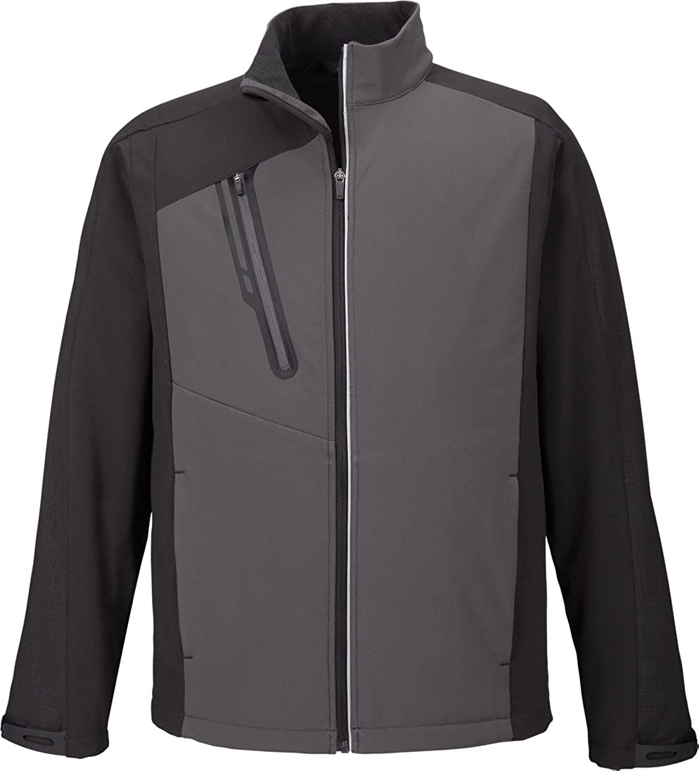 XB0847 ZUZIFY Mens Embossed Color-Block Soft Shell Jacket