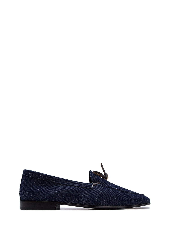 - LEQARANT Men's 7002DENIMblueE bluee Leather Loafers