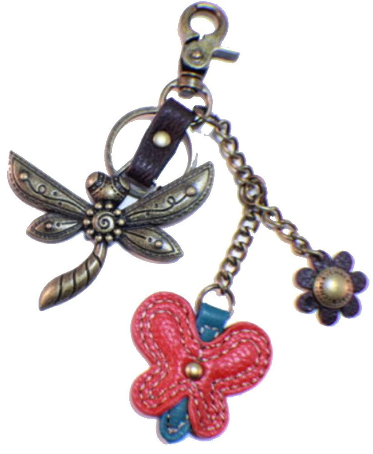 Chala Dragonfly And Butterfly Charming Key Chain Purse Bag Fob Charm