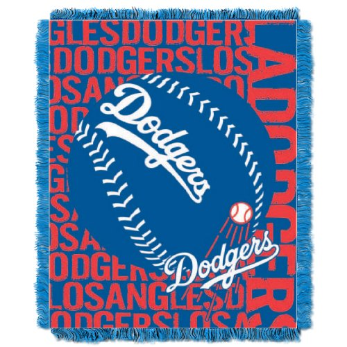 y Officially Licensed MLB Los Angeles Dodgers Double Play Jacquard Throw, 48