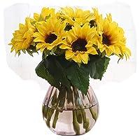 Yapay ay çiçekleri, Artfen 6 adet Fake Ayçiçeği konserve edilmiş Flower Bouquet gelin Nedime Holding çiçek yapay…