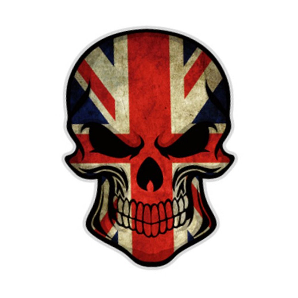 S2s skull scary car styling decal reflective car bike sticker design a amazon in car motorbike