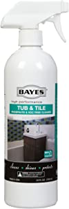 Bayes High-Performance Eco-Responsible Tub & Tile Cleaner - Cleans, Shines, and Protects - 24 oz