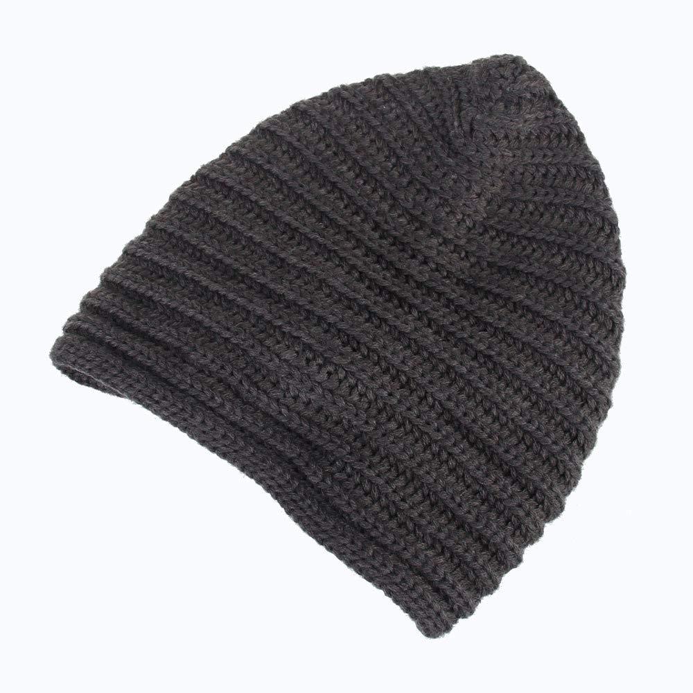 709d0484a3029 iYBUIA 2018 Winter Men Women Baggy Warm Crochet Wool Knit Ski Beanie Skull  Slouchy Caps Hat(Gray