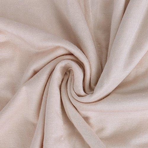 ISASSY - Camiseta - relaxed - Cuello redondo - Manga corta - para mujer Apricot Pink