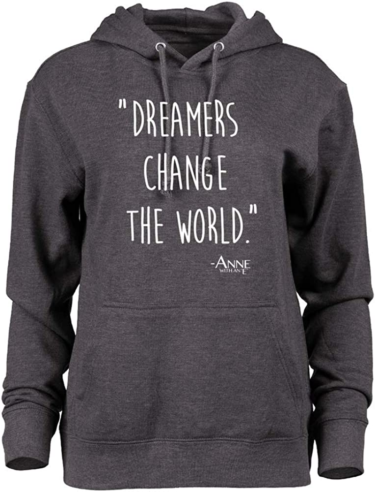 Venley Official Anne with an E Dreamers Change The World ANNE10v1 Lightweight French Terry Hoodie