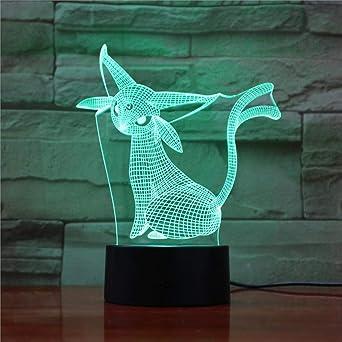 wangZJ Lámpara de ilusión 3d / Luz de noche de regalo de navidad ...