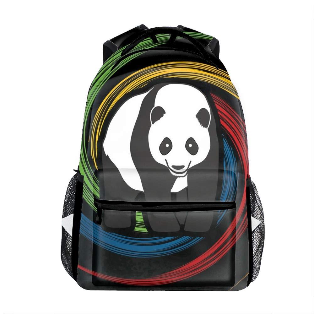 Fat panda6 Retro American Football Casual Backpack Bag, Fashion Lightweight Backpacks for Teen Young Girls