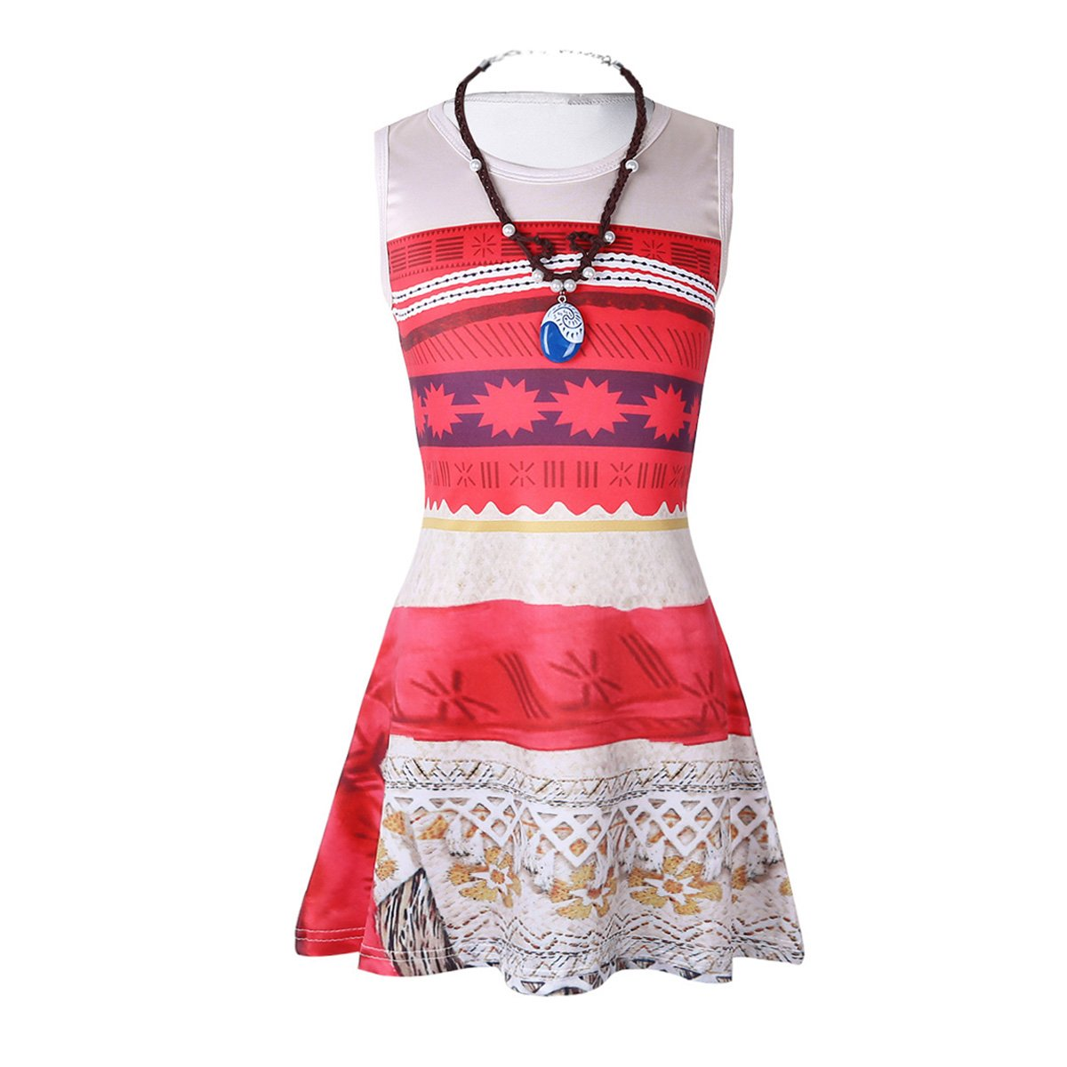 Red With Necklace iEFiEL Girls Costume Swimsuit Bathing Suit Summer Beachwear Adventure Outfit Party Cosplay Dress Up