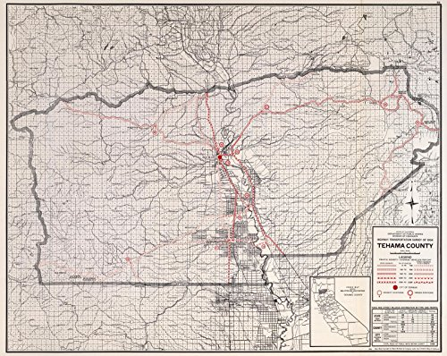State Atlas | 1935 Tehama County. | Historic Antique Vintage Map Reprint