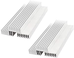 SamIdea 6-Pack 100x25x10mm Aluminium Heatsinks Heat Sink Module Cooler Fin Good Thermal Conductivity Cooling for Power Amplifier Transistor