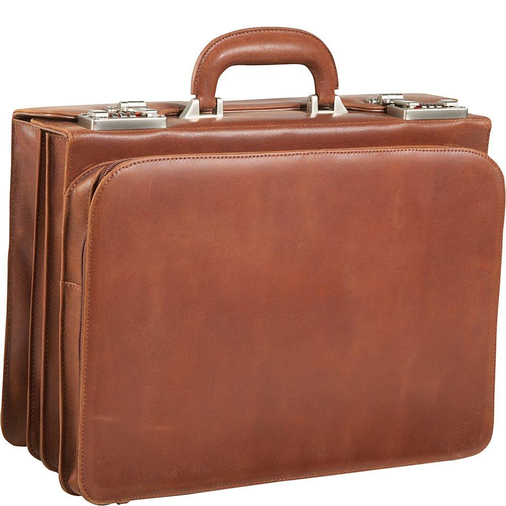 Brown 2890-2 AmeriLeather APC Attache Leather Executive Briefcase