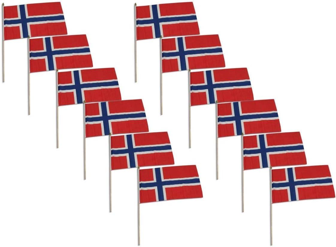 Amazon Com Online Stores Norway Flag 12 X 18 Inch 12 Pk Garden Outdoor