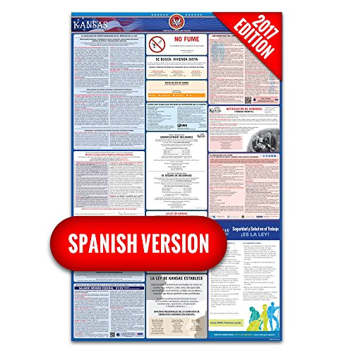 2017 Kansas Labor Law Poster – State & Federal Compliant – Laminated