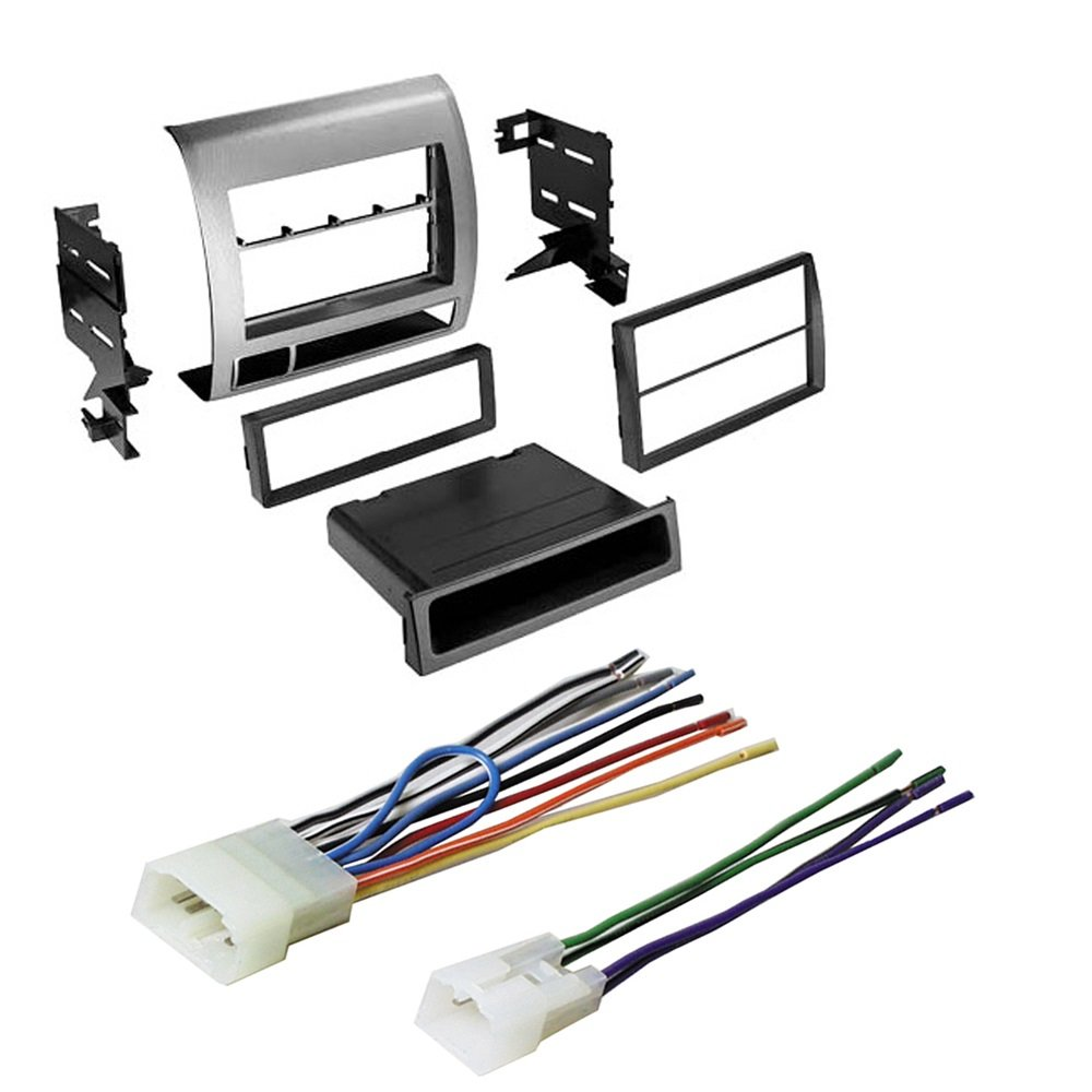 Toyota Tacoma Double Din Ear Stereo Radio Installation New Car Replacement Factory Interface Module Wiring Harness Dash Mount Kit W Electronics