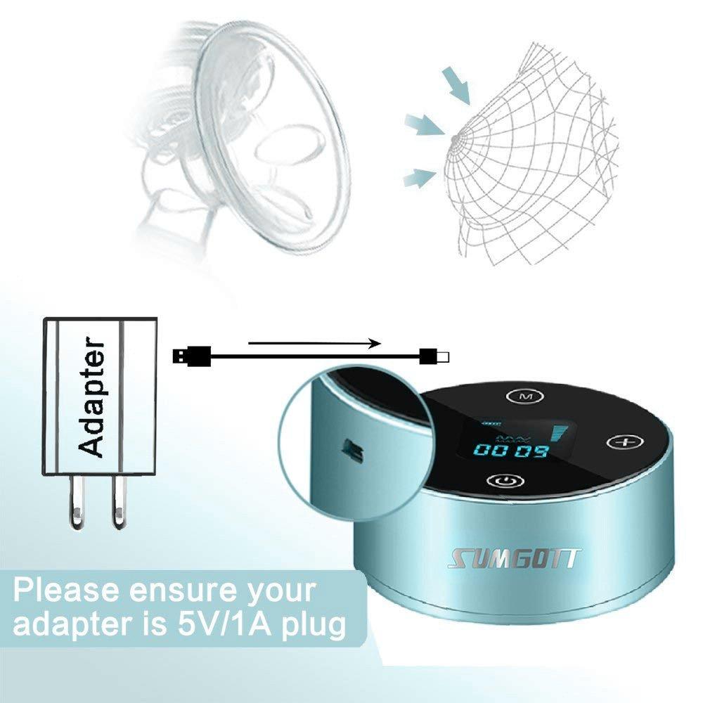 Wiederaufladbare Doppel-Stillpumpe SUMGOTT Elektrische Milchpumpe Elektrische Brustpumpe f/ür Brustmilchabsaugung und Brustmassage pump17