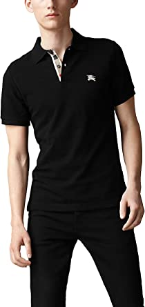 Burberry Brit Hombres de la solapa Check Pique Polo camisa Modern Fit - negro -