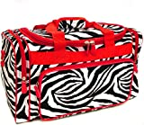 Snowflake Designs Duffel Bag - Zebra with Red Trim