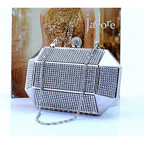 Case Rhinestones Wedding Women Crystal Clutch Purse Lovely Rabbit Bag Clutch Evening For Party Silver Hard Bag Hand pZBWBcUn