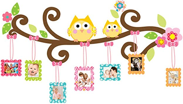 Family Tree Photo Frames Wall Stickers Diy Blank Album Removable Wall Decals Home Decor Pvc Art Mural Baby Boys Girls Kids Bedroom Kitchen Room Decoration Wall Sticker Posters Owl Photo Frames Amazon Co Uk